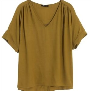 Madewell Drapey Button Back Tee